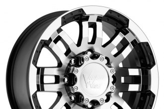 "VISION® - WARRIOR Gloss Black with Machined Face and Lip (20"" x 9"", +25 Offset, 6x135 Bolt Pattern, 87.1mm Hub)"