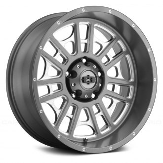 VISION OFF-ROAD® - 418 WIDOW Satin Gray with Milled Spokes