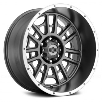 VISION OFF-ROAD® - 418 WIDOW Satin Gray with Machined Lip