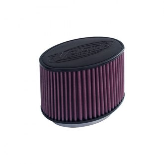 "Volant® - Primo Oval Tapered Red Air Filter (6"" F x 9.5"" BOL x 6.5"" BOW x 8.25"" TOL x 5.5"" TOW x 6"" H)"