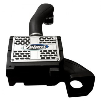 Volant® - Plastic Black Cold Air Intake System with Pro 5 Blue Filter