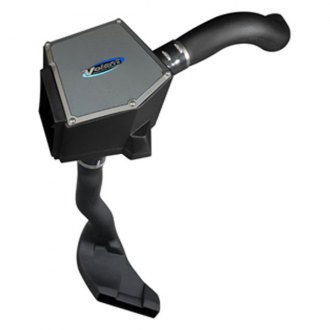 Volant® - Plastic Black Cold Air Intake System with Blue Filter and Cold Air Scoop