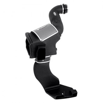Volant® - Plastic Black Cold Air Intake System and Cold Air Scoop with Blue Filter
