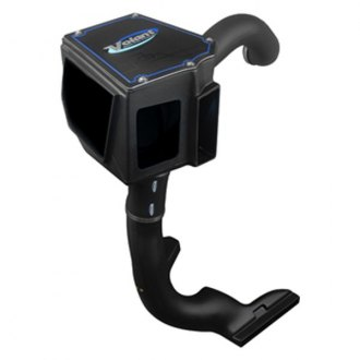 Volant® - Plastic Black Cold Air Intake System with Pro 5 Blue Filter and Cold Air Scoop