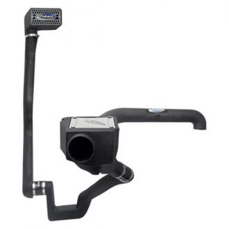 Volant® - Plastic Black Cold Air Intake System with Pro 5 Blue Filter and Snorkel