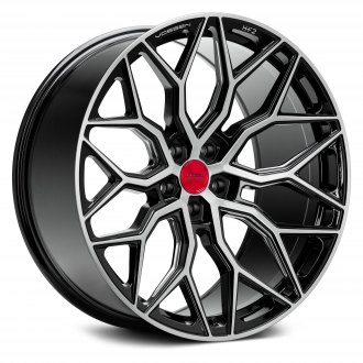 VOSSEN® - HF-2 Gloss Black with Brushed Face