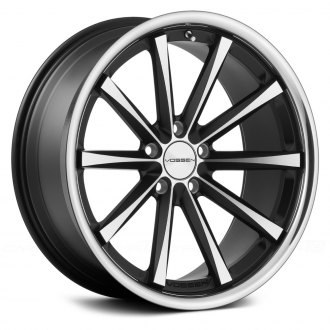 VOSSEN® - VVSCV1 Matte Black with Machined Face and SS Lip