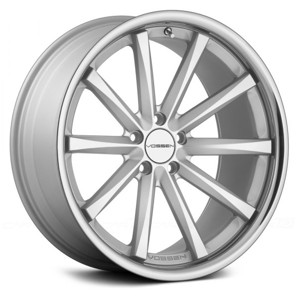 VOSSEN® - VVSCV1 Matte Silver with Machined Face and SS Lip
