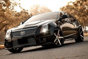 VOSSEN® - VVSCV3 Matte Black with Machined Face on Cadillac CTS