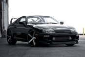 VOSSEN® - VVSCV3 Matte Black with Machined Face on Toyota Supra