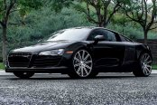 VOSSEN® - VVSCV4 Matte Graphite with Machined Face and Ring on Audi R8