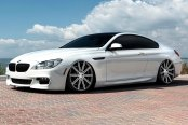 VOSSEN® - VVSCV4 Matte Graphite with Machined Face and Ring on BMW 5-Series