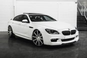 VOSSEN® - VVSCV4 Matte Graphite with Machined Face and Ring on BMW 640i M Sport