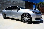 VOSSEN® - VVSCV4 Matte Graphite with Machined Face and Ring on Chevy Impala