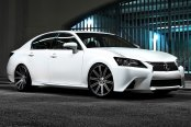 VOSSEN® - VVSCV4 Matte Graphite with Machined Face and Ring on Lexus GS