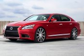 VOSSEN® - VVSCV4 Matte Graphite with Machined Face and Ring on Lexus LS