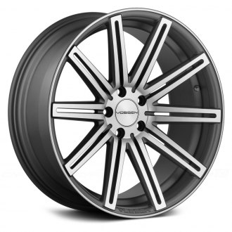 VOSSEN® - VVSCV4 Matte Graphite with Machined Face and Ring