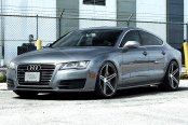 VOSSEN® - VVSCV5 Matte Graphite with Machined Face and Ring on Audi A7