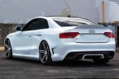 VOSSEN® - VVSCV5 Matte Graphite with Machined Face and Ring on Audi RS5