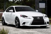 VOSSEN® - VVSCV5 Matte Graphite with Machined Face and Ring on Lexus IS