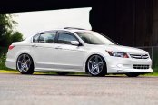 VOSSEN® - VVSCV5 Silver with Mirror Machined Face on Honda Accord Inspire