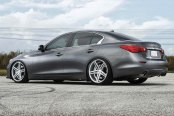 VOSSEN® - VVSCV5 Silver with Mirror Machined Face on Infiniti Q50