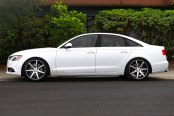 VOSSEN® - VVSCV7 Matte Graphite with Machined Face and Ring on Audi A6