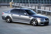 VOSSEN® - VVSCV7 Matte Graphite with Machined Face and Ring on BMW 5-Series