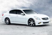 VOSSEN® - VVSCV7 Matte Graphite with Machined Face and Ring on Infiniti G37