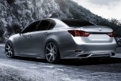 VOSSEN® - VVSCV7 Matte Graphite with Machined Face and Ring on Lexus GS