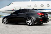 VOSSEN® - VVSCV7 Matte Graphite with Machined Face and Ring on Lexus IS
