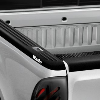 Wade® - Ribbed Black Side Bed Caps without Holes