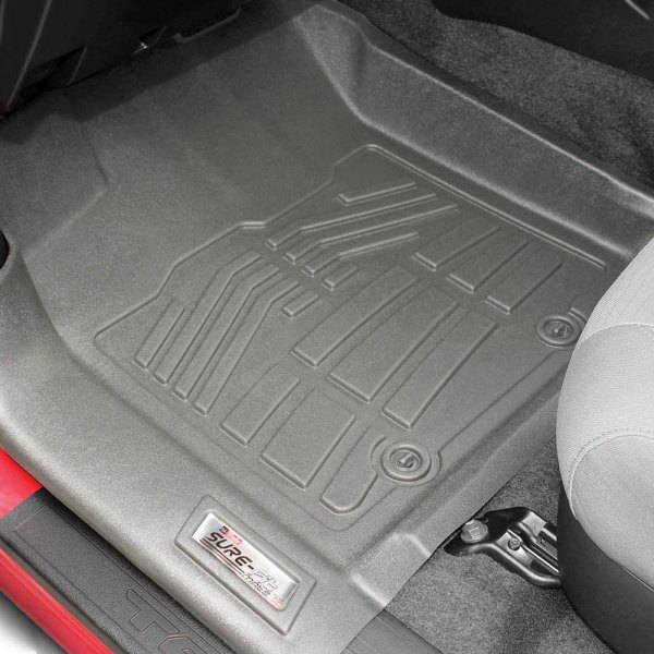 Image may not reflect your exact vehicle! Wade® - Sure-Fit Floor Mats - 1st Row, Gray