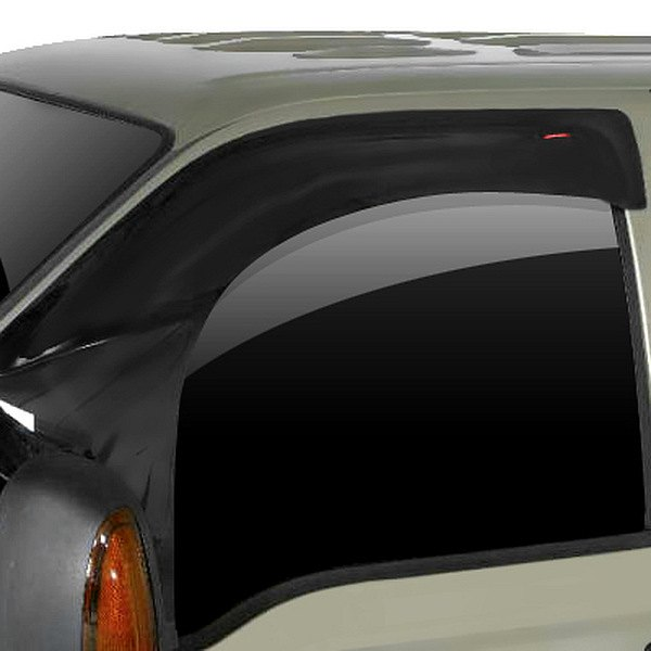 Image may not reflect your exact vehicle! Wade® - Extra Wide Smoke Wind Guard