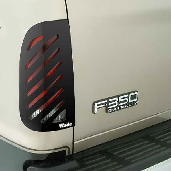 Image may not reflect your exact vehicle! Wade® - Smoke Slotted Tail Light Covers