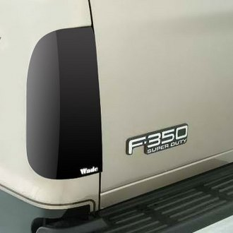 Image may not reflect your exact vehicle! Wade® - Smoke Solid Tail Light Covers