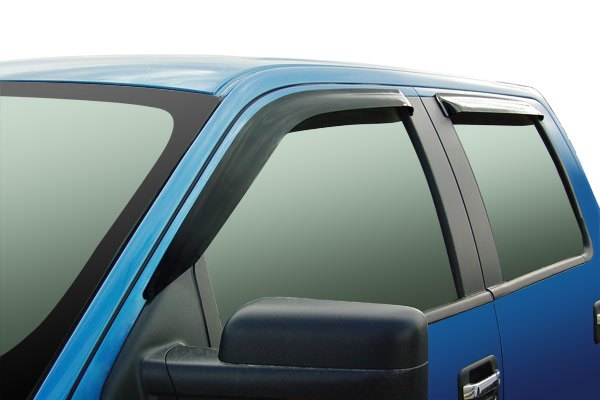 Image may not reflect your exact vehicle! Wade® - Slim Design Smoke Window Deflector