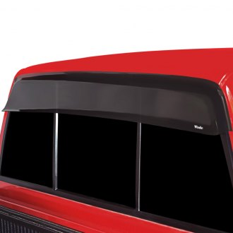 Image may not reflect your exact vehicle! Wade® - Smoke Cab Guard Wind Deflector w/o Light Cutout