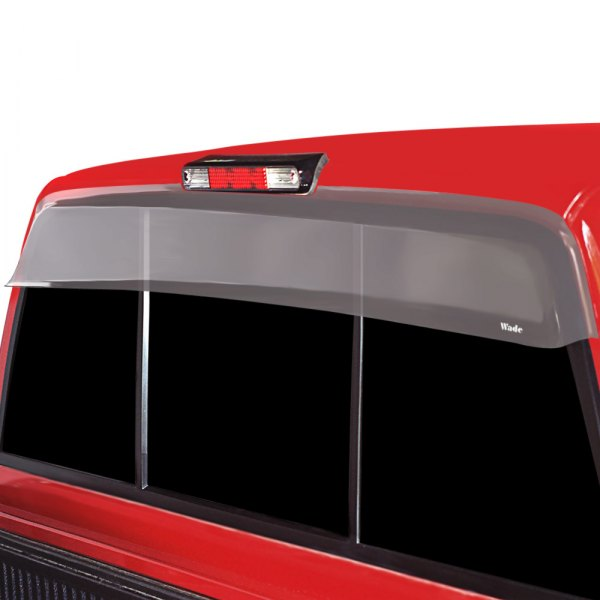 Image may not reflect your exact vehicle! Wade® - Clear Cab Guard Wind Deflector with Light Cutout