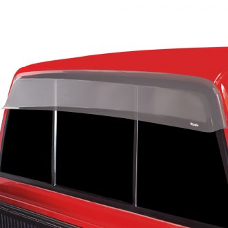 Image may not reflect your exact vehicle! Wade® - Clear Cab Guard Wind Deflector w/o Light Cutout