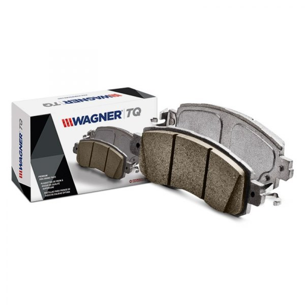 Front Wagner ThermoQuiet QC1324 Ceramic Disc Pad Set With Installation Hardware