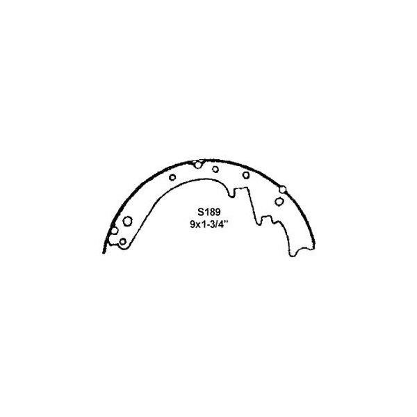 Drum Brake Shoe Rear,Front Wagner Z189
