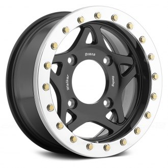 WALKER EVANS RACING® - 500BK RACE LEGEND Gloss Black with Machined Beadlock