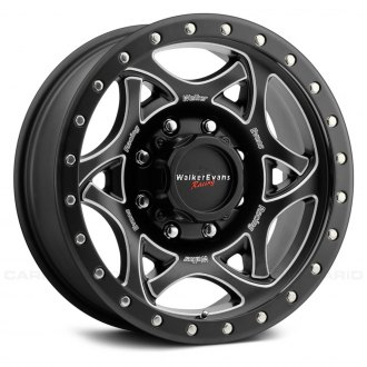 WALKER EVANS RACING® - 501BM LEGEND II Satin Black with CNC Milled Accents Black Lip and Clear Coat