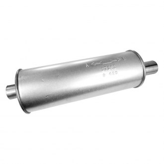 "Walker 17163 - SoundFX Round Muffler (2"" Offset Inlet / 2"" Offset Outlet)"