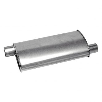 "Walker® - Pro-Fit Economy Stainless Steel Oval Aluminized Exhaust Muffler (2"" Offset ID, 2"" Offset OD, 18"" Length)"