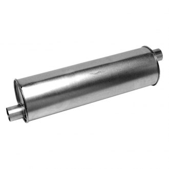 "Walker® - Pro-Fit Economy Stainless Steel Round Aluminized Exhaust Muffler (2.25"" Offset ID, 2.25"" Offset OD, 22"" Length)"