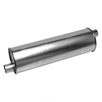 "Walker® - Pro-Fit Economy Stainless Steel Round Aluminized Exhaust Muffler (2"" Offset ID, 2"" Offset OD, 18"" Length)"