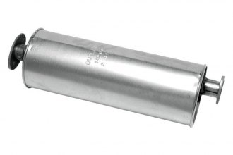 "Walker® 18264 - SoundFX™ Stainless Steel Aluminized Round Direct Fit Muffler (2.5"" Offset Inlet / 2.5"" Offset Outlet)"