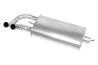 "Walker® 18917 - SoundFX™ Stainless Steel Aluminized Oval Direct Fit Muffler (2.25"" Center Inlet / 2"" Offset Outlet)"